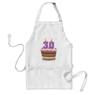 Age 30 on Birthday Cake Standard Apron
