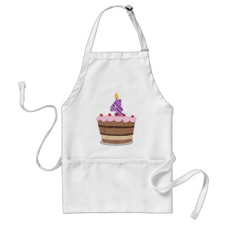 Age 4 on Birthday Cake Aprons