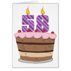 Age 58 on Birthday Cake Card
