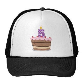 Age 5 on Birthday Cake Hats