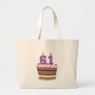 Age 61 on Birthday Cake Bags