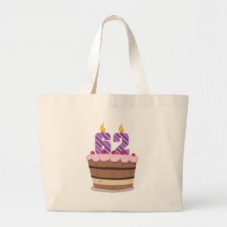 Age 62 on Birthday Cake Tote Bags