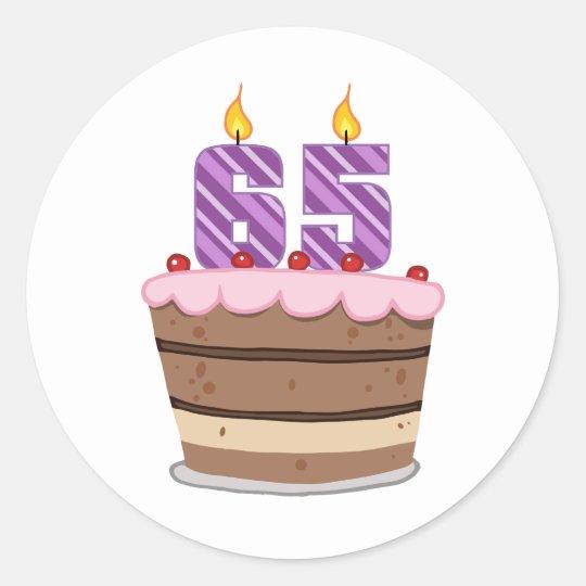 Prime Age 65 On Birthday Cake Classic Round Sticker Zazzle Co Uk Funny Birthday Cards Online Drosicarndamsfinfo