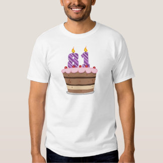 Age 81 on Birthday Cake Tee Shirts