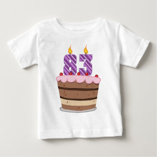 Age 83 on  Birthday Cake Baby T-Shirt