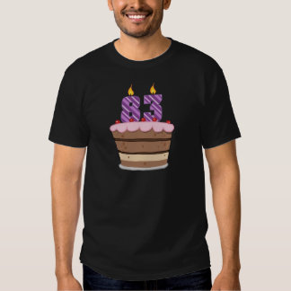 Age 83 on  Birthday Cake T-shirt