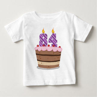 Age 84 on Birthday Cake Baby T-Shirt