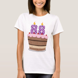 Age 88 on Birthday Cake T-Shirt