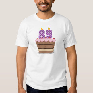 Age 89 on Birthday Cake Tshirts