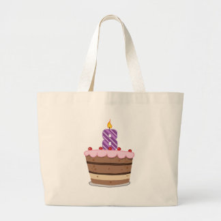 Age 8 on Birthday Cake Large Tote Bag