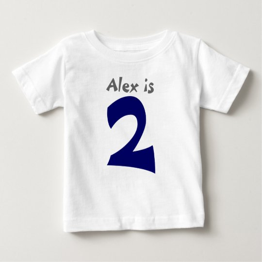 Age and Name Customisable 1st Birthday Tshirt