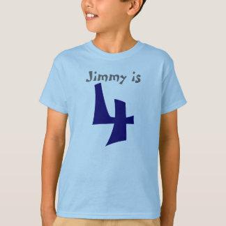 Age and Name  Customizable 4th Birthday Tshirt
