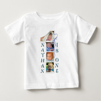 Age and photo number Tshirts. Personalised designs Baby T-Shirt