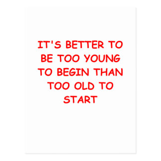 age and youth post cards
