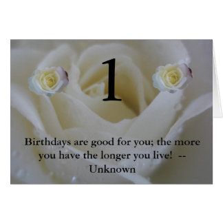 Age Birthday 1 today Greeting Card