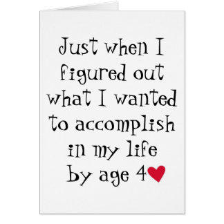 Age Greeting Card