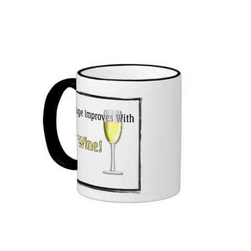 Age Improves With Wine (White) Mug