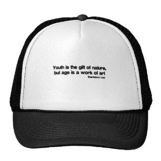 Age Is A Work Of Art quote Mesh Hats