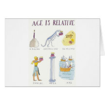 Age Is Relative Greeting Card