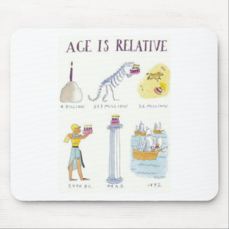 Age Is Relative Mouse Mat