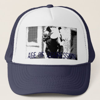 Age of Aggression Gas Mask Blue Trucker Hat