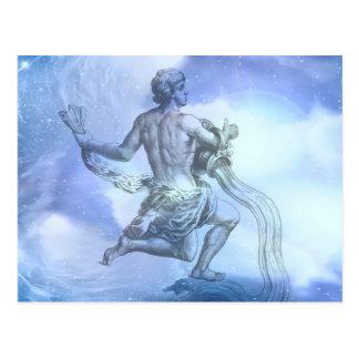 Age of Aquarius Zodiac Postcard