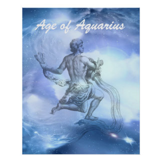 Age of Aquarius Zodiac Poster