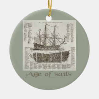 Age of Sails Round Ceramic Decoration