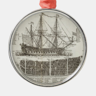 Age of Sails Silver-Colored Round Decoration