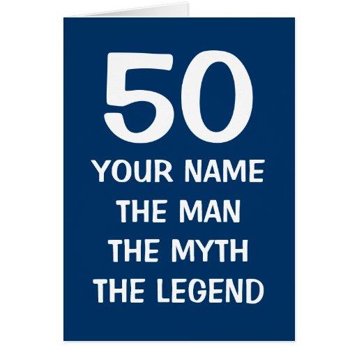 Age specific Birthday card | The man myth legend