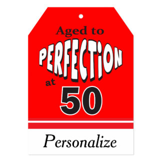 Age to Perfection at 50 | 50th Birthday 13 Cm X 18 Cm Invitation Card