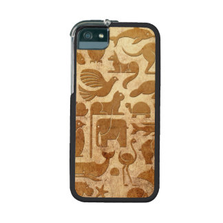 Aged and Worn Animal Kingdom Pattern Cover For iPhone 5/5S