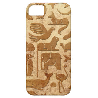 Aged and Worn Animal Kingdom Pattern Case For iPhone 5/5S