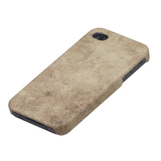Aged and Worn Gray Brown Vintage Texture Cover For iPhone 4