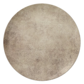 Aged and Worn Gray Brown Vintage Texture Dinner Plate