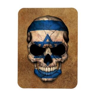 Aged and Worn Israeli Flag Skull Vinyl Magnets