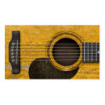 Aged and Worn Old Acoustic Guitar with Pickguard Business Card Templates