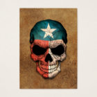 Aged and Worn Texas Flag Skull Business Card