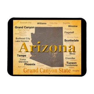 Aged Arizona State Pride Map Magnet
