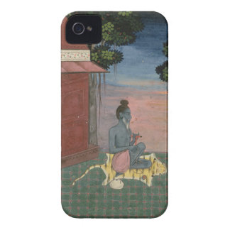 Aged ascetic seated on a tiger skin outside a buil Case-Mate iPhone 4 case