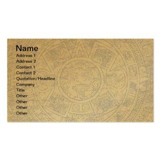 Aged Aztec Mayan Sun Stone Calendar Pack Of Standard Business Cards