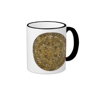 Aged Aztec Mayan Sun Stone Calendar Coffee Mug