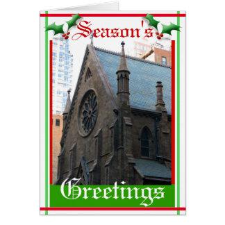 Aged Brick Church Card