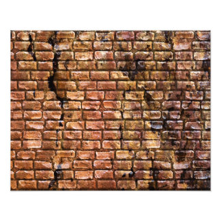 Aged Brick Wall Textured Photo Art
