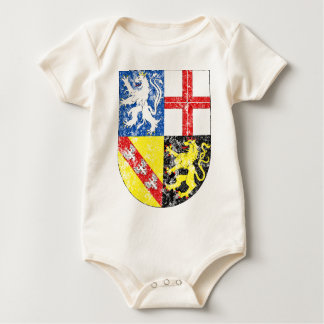 Aged Coat of Arms of Saarland Baby Bodysuit