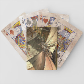 Aged Distressed Steampunk Playing Cards