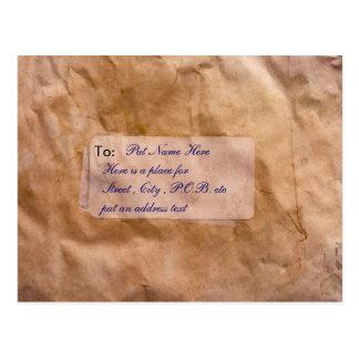 aged envelope postcard