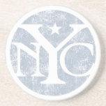 Aged Faded NYC Sandstone Coaster