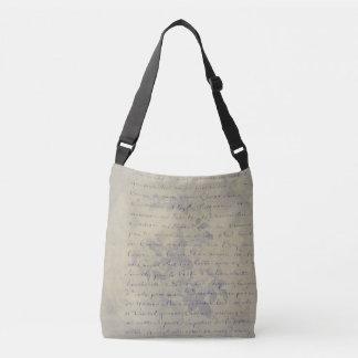 Aged Floral Letter Crossbody Bag