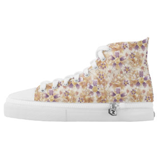 Aged Flower Clowns Pattern Printed Shoes